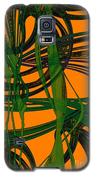 Galaxy S5 Case featuring the digital art Green Excitement by Hanza Turgul