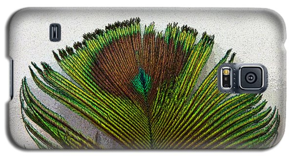 Green Feather Tip Galaxy S5 Case by Sally Simon