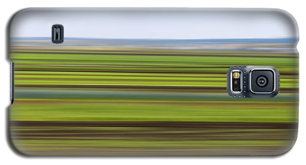 Green Field Abstract Galaxy S5 Case