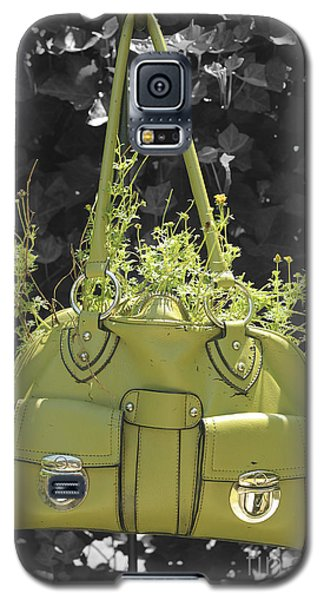 Galaxy S5 Case featuring the photograph Green Flower Bag by Sebastian Mathews Szewczyk