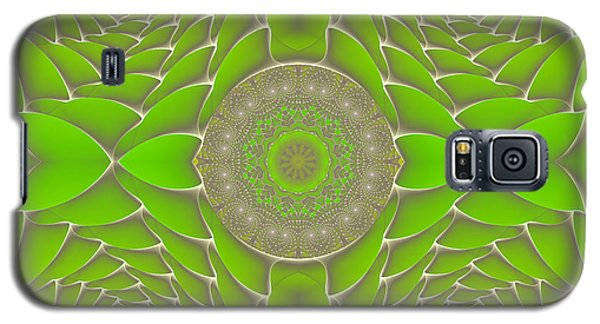 Green Fractal Jewel Galaxy S5 Case