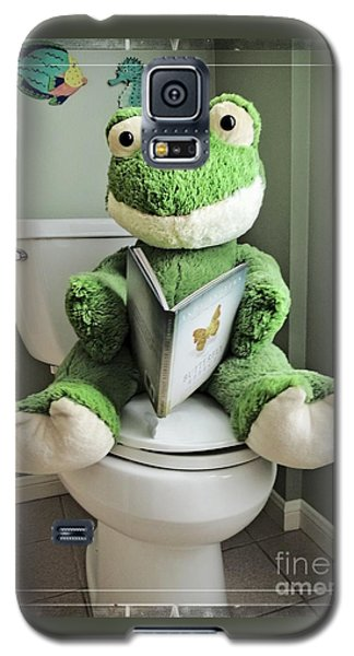 Green Frog Potty Training - Photo Art Galaxy S5 Case