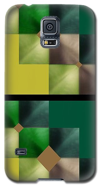 Green Glow Check Galaxy S5 Case