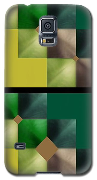 Green Glow Check Galaxy S5 Case by Ann Calvo