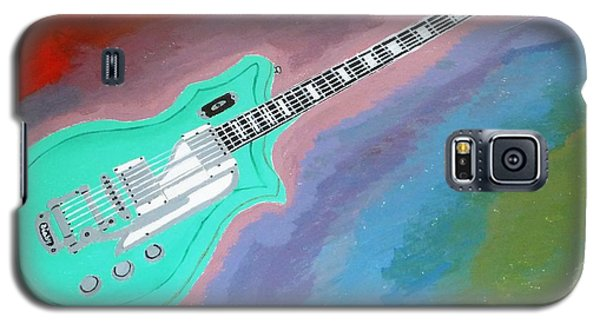 Galaxy S5 Case featuring the painting Green Guitar by Magdalena Frohnsdorff