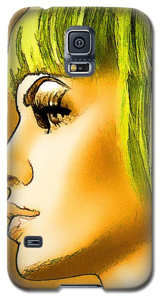Green Hair Galaxy S5 Case