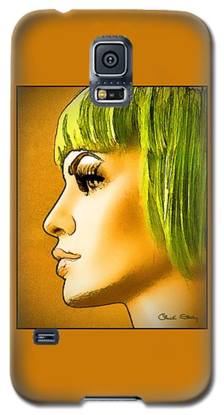 Green Hair Galaxy S5 Case by Chuck Staley