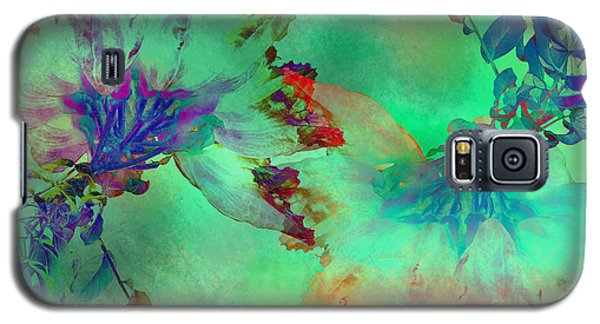 Green Hibiscus Mural Wall Galaxy S5 Case