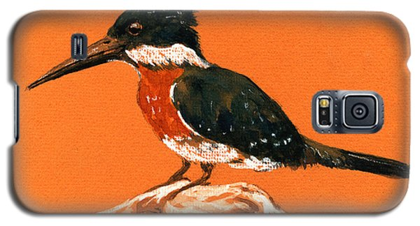 Green Kingfisher Galaxy S5 Case by Juan  Bosco