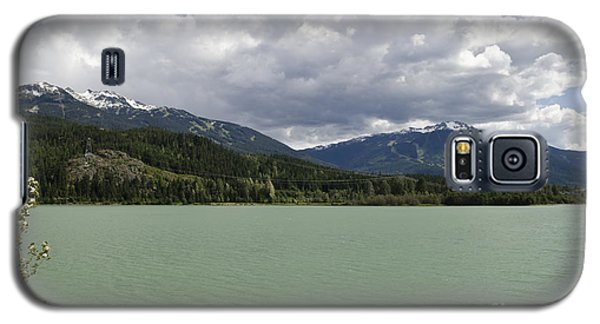 Galaxy S5 Case featuring the photograph Green Lake At Whistler by Maria Janicki