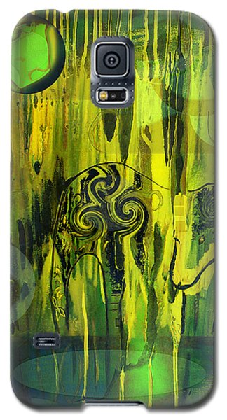 Galaxy S5 Case featuring the painting Green Light by Yul Olaivar