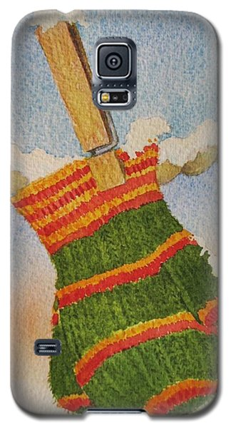 Galaxy S5 Case featuring the painting Green Mittens by Mary Ellen Mueller Legault
