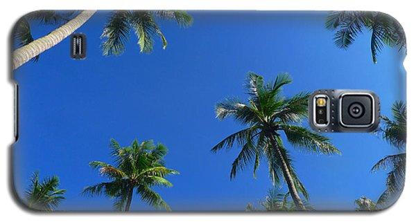 Green Palms Blue Sky Galaxy S5 Case