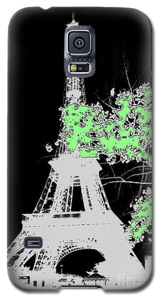 Galaxy S5 Case featuring the photograph green Paris green by Yury Bashkin