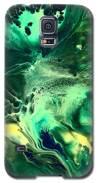 Green Passage Abstract Galaxy S5 Case