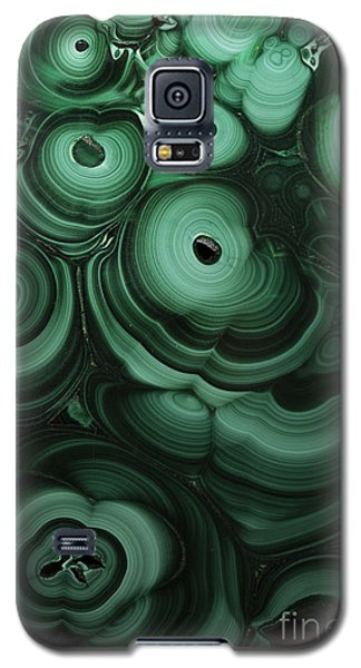 Green Patterns Of Malachite Galaxy S5 Case