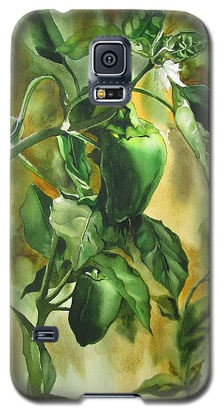 Galaxy S5 Case featuring the painting Green Peppers From Our Garden by Alfred Ng