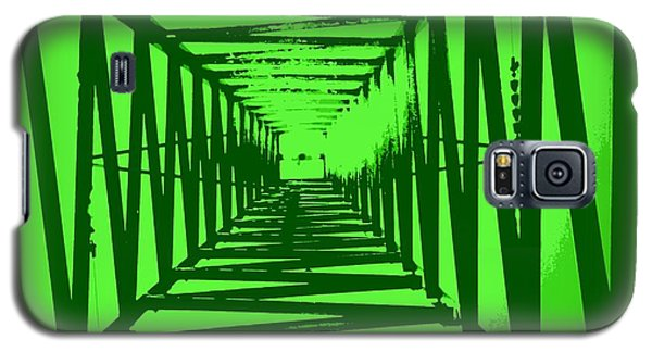 Galaxy S5 Case featuring the photograph Green Perspective by Clare Bevan