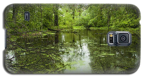 Galaxy S5 Case featuring the photograph Green Blossoms On Pond by Jerry Cowart