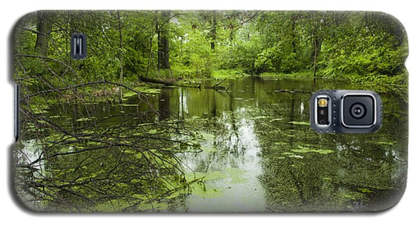 Green Blossoms On Pond Galaxy S5 Case