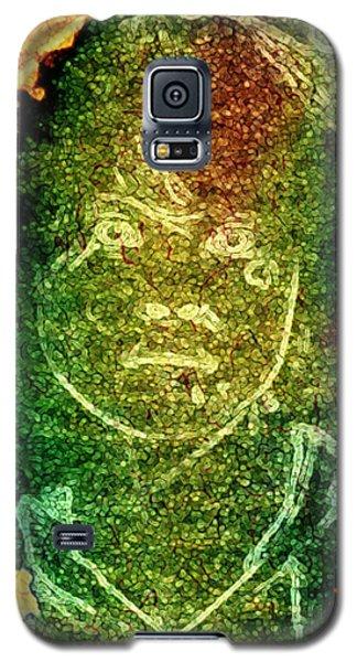 Green Sad Face Galaxy S5 Case