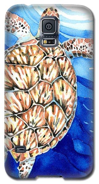 Green Sea Turtle Surfacing Galaxy S5 Case