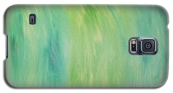 Galaxy S5 Case featuring the painting Green Shades by Barbara Yearty