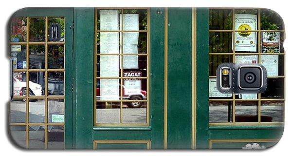 Green Shop Door Galaxy S5 Case by Sally Simon
