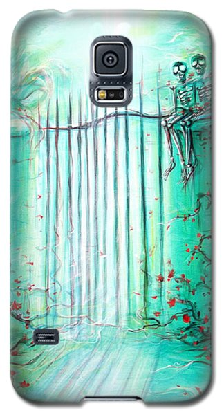 Green Skeleton Gate Galaxy S5 Case