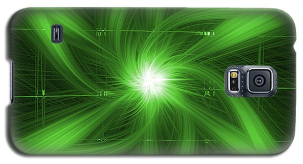 Galaxy S5 Case featuring the digital art Green Swirl by Maggy Marsh
