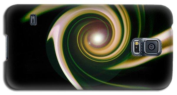 Green Swirl Galaxy S5 Case