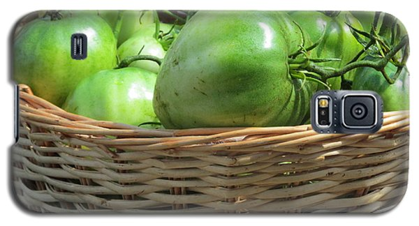 Galaxy S5 Case featuring the photograph Green Tomatoes by Tina M Wenger