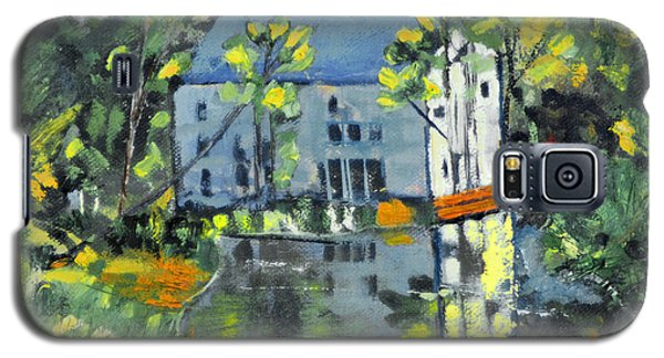 Galaxy S5 Case featuring the painting Green Township Mill House by Michael Daniels