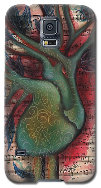 Green Tree Of Life Galaxy S5 Case by Abril Andrade Griffith