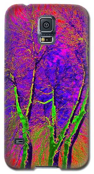Galaxy S5 Case featuring the photograph Green Trees by Jodie Marie Anne Richardson Traugott          aka jm-ART