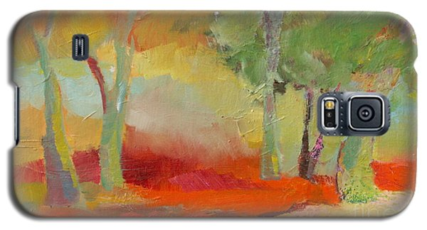 Galaxy S5 Case featuring the painting Green Trees by Michelle Abrams