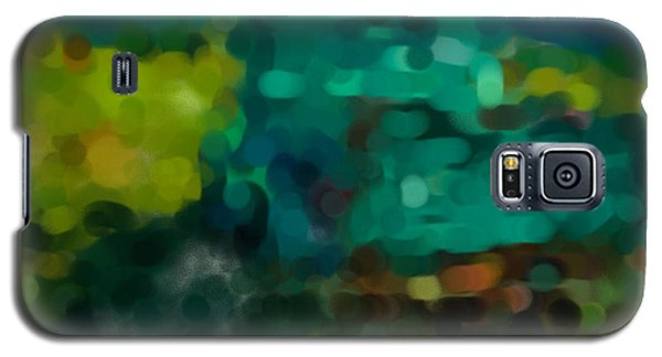Green Truck In Abstract Galaxy S5 Case