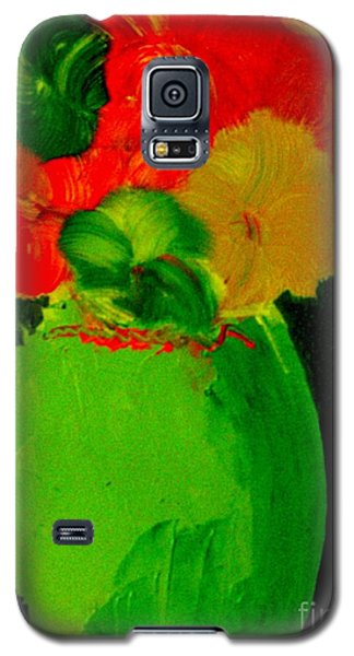 Galaxy S5 Case featuring the painting Green Vase 22 by Bill OConnor