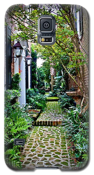 Galaxy S5 Case featuring the photograph Green Walkway by Jean Haynes