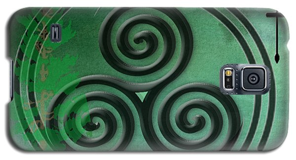 Green Watercolor Ailim Celtic Symbol Galaxy S5 Case by Kandy Hurley