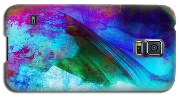 Galaxy S5 Case featuring the painting Green Wave - Vibrant Artwork by Lilia D