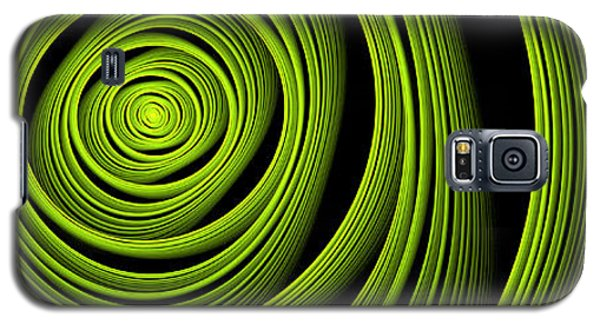 Galaxy S5 Case featuring the digital art Green Wellness by Gabiw Art
