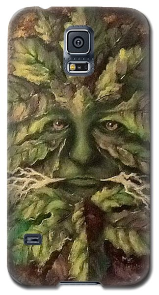 Galaxy S5 Case featuring the painting Greenman by Megan Walsh