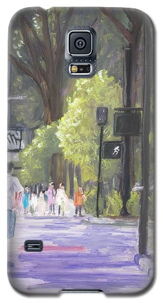 Galaxy S5 Case featuring the pastel Greenville Street Scene by Robert Decker