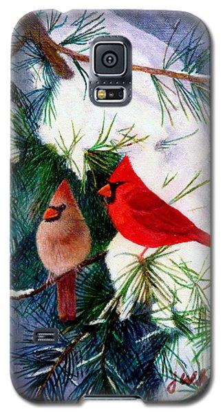 Greeting Cardinals Galaxy S5 Case