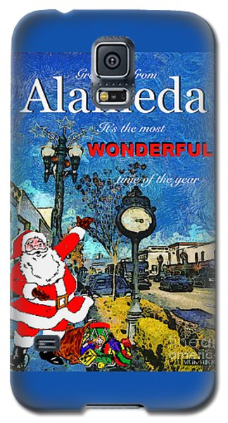 Alameda Christmas Greeting Galaxy S5 Case by Linda Weinstock