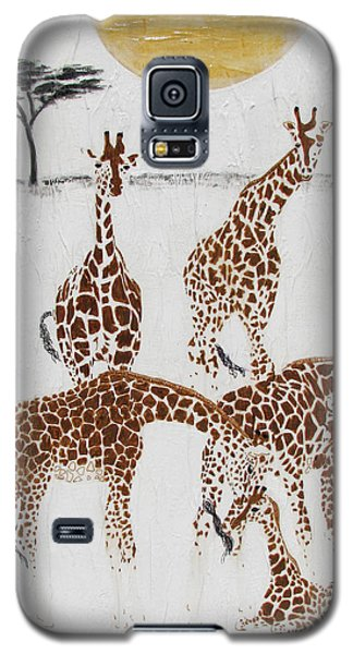 Galaxy S5 Case featuring the painting Greeting The New Arrival by Stephanie Grant