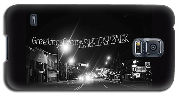 Greetings From Asbury Park New Jersey Black And White Galaxy S5 Case