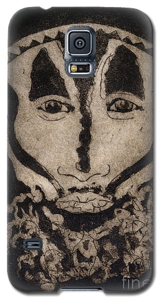 Galaxy S5 Case featuring the painting Greetings From New Guinea - Mask - Tribesmen - Tribesman - Tribal - Jefe - Chef De Tribu by Urft Valley Art
