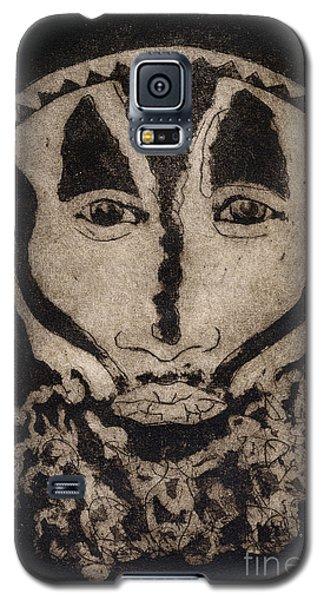 Greetings From New Guinea - Mask - Tribesmen - Tribesman - Tribal - Jefe - Chef De Tribu Galaxy S5 Case
